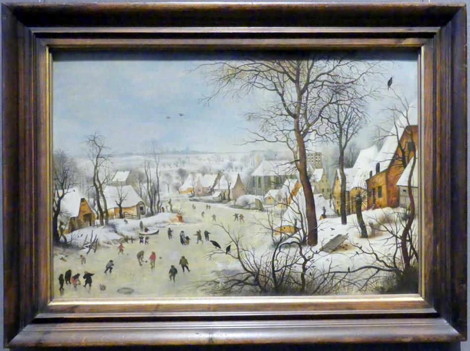Pieter Brueghel der Jüngere (Höllenbrueghel): Winterlandschaft mit Vogelfalle, 1601