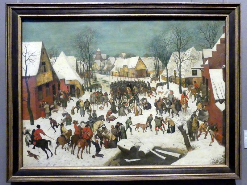 Pieter Brueghel der Jüngere (Höllenbrueghel): Bethlehemitischer Kindermord, Letztes Viertel 16. Jhd.