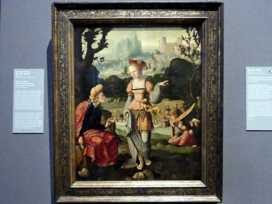 Jan van Scorel (Umkreis): Ruth und Naemi auf dem Acker des Boas, um 1520 - 1530, Bild 1/2