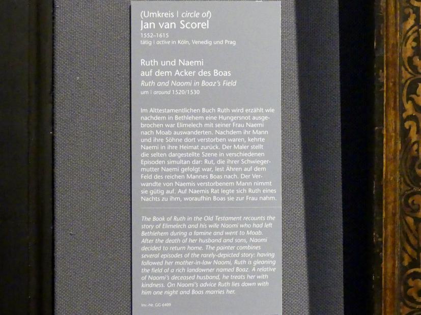 Jan van Scorel (Umkreis): Ruth und Naemi auf dem Acker des Boas, um 1520 - 1530, Bild 2/2