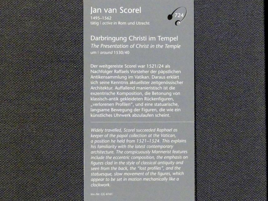 Jan van Scorel: Darbringung Christi im Tempel, um 1530 - 1540, Bild 2/2