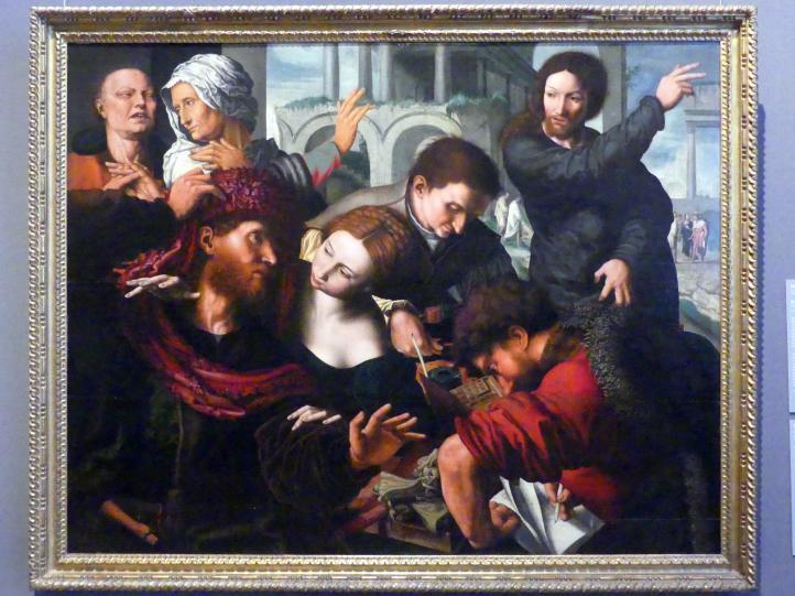 Jan Sanders van Hemessen (Nachahmer): Berufung des Apostels Matthäus, um 1539 - 1540