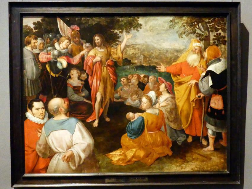 Jakob de Gheyn II.: Predigt Johannes des Täufers, Um 1600