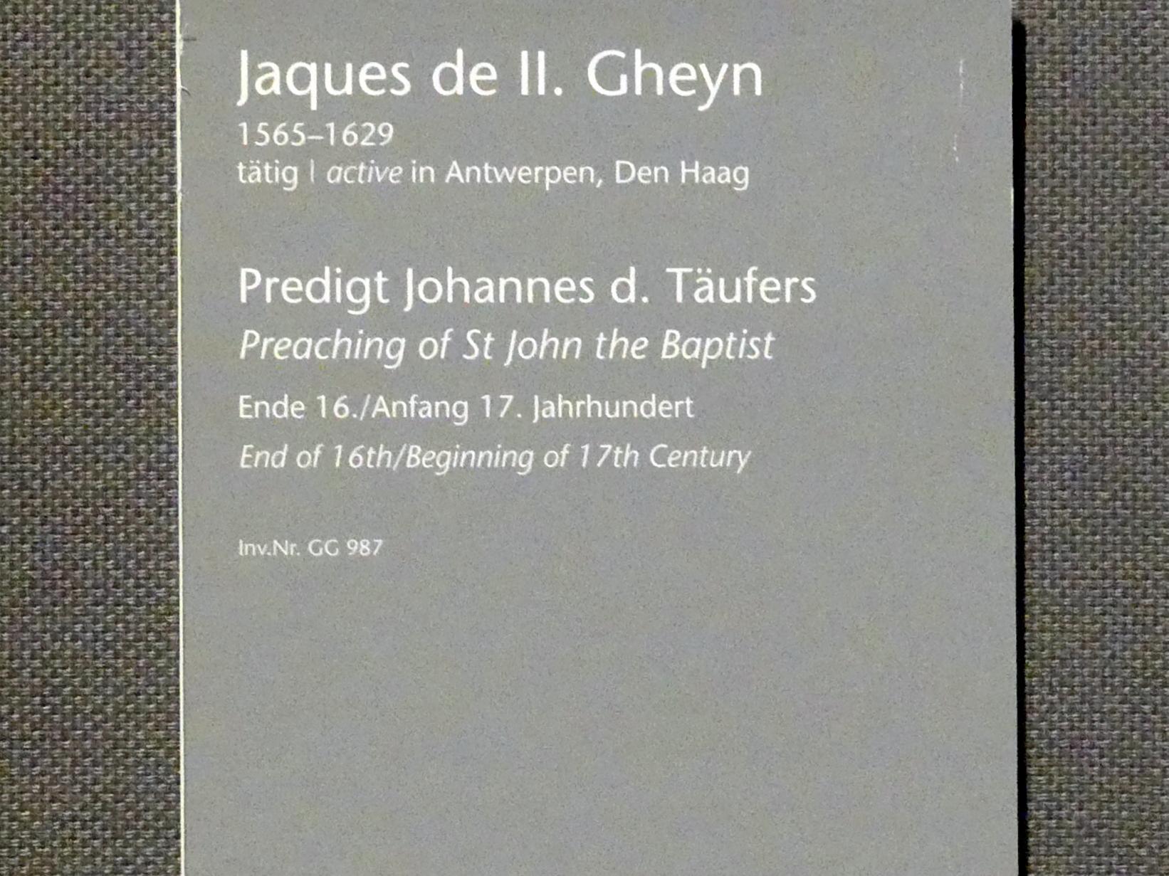 Jakob de Gheyn II.: Predigt Johannes des Täufers, um 1600, Bild 2/2