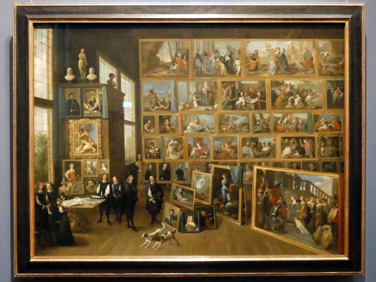 David Teniers der Jüngere: Erzherzog Leopold Wilhelm in seiner Galerie in Brüssel, 1652, Bild 1/2