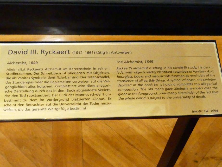 David Ryckaert III.: Alchemist, 1649