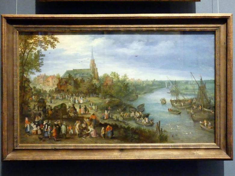 Jan Brueghel der Ältere (Blumenbrueghel): Kirchweih in Schelle, 1614