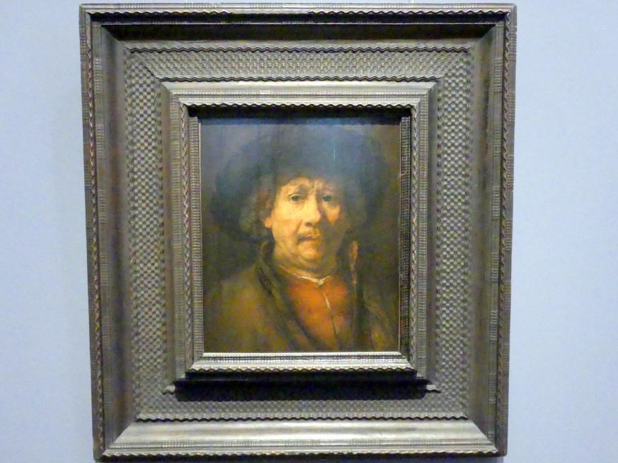 Rembrandt (Rembrandt Harmenszoon van Rijn): Kleines Selbstbildnis, Um 1657