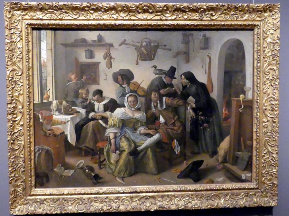 """Jan Havickszoon Steen: """"Die verkehrte Welt"""", 1663"""