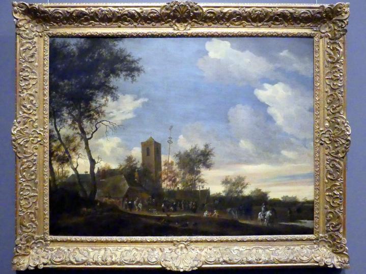 Salomon van Ruysdael: Fest unter dem Maibaum, 1655