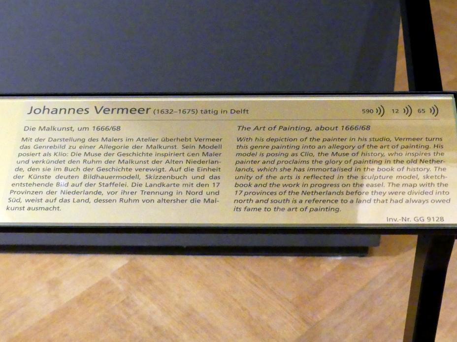 Jan Vermeer (Johannes Vermeer): Die Malkunst, Um 1666 - 1668