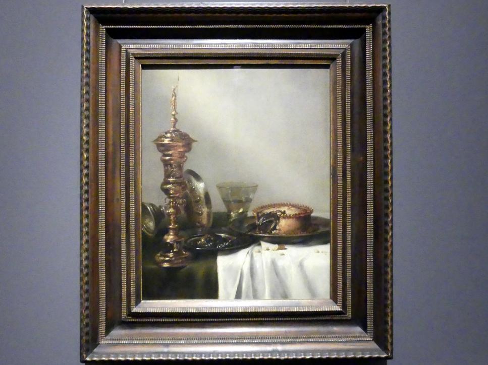 Willem Claeszoon Heda: Frühstücksstillleben mit Deckelpokal, 1634