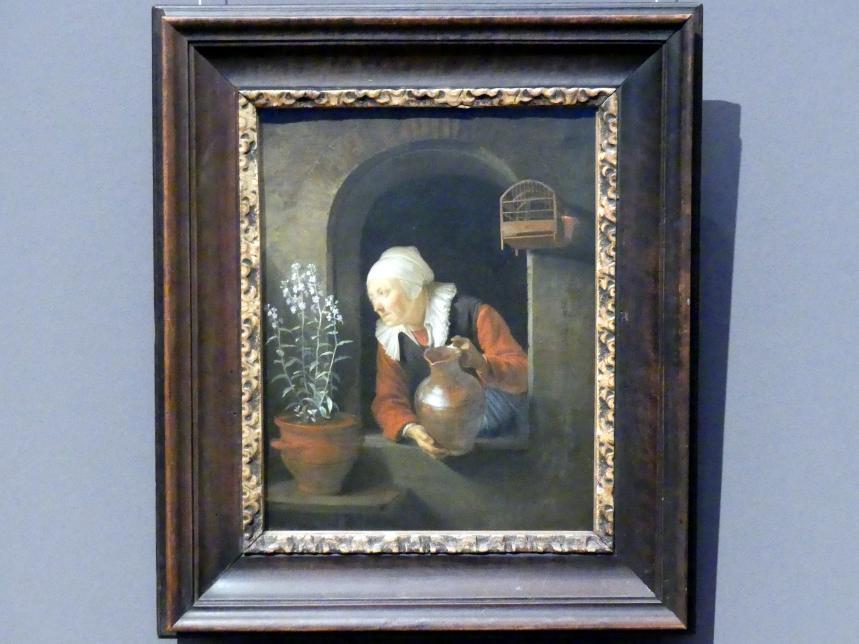 Gerard Dou (Gerrit Dou): Alte Frau am Fenster, um 1660 - 1665