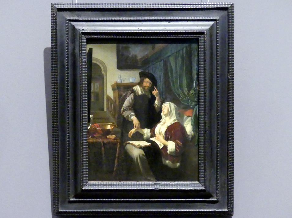 Frans van Mieris der Ältere: Besuch des Arztes (Die Liebeskranke), 1657
