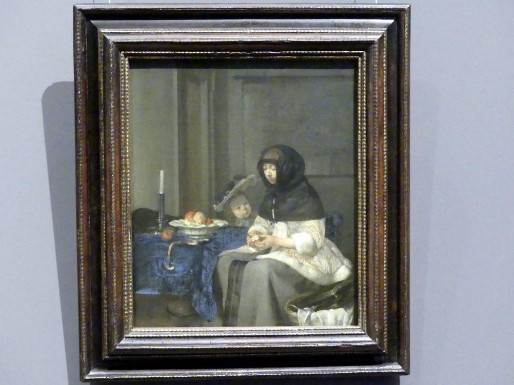 Gerard ter Borch: Apfelschälerin, um 1660