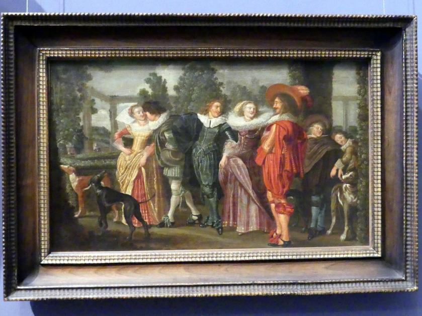 Dirck Hals: Spaziergang im Garten, um 1632