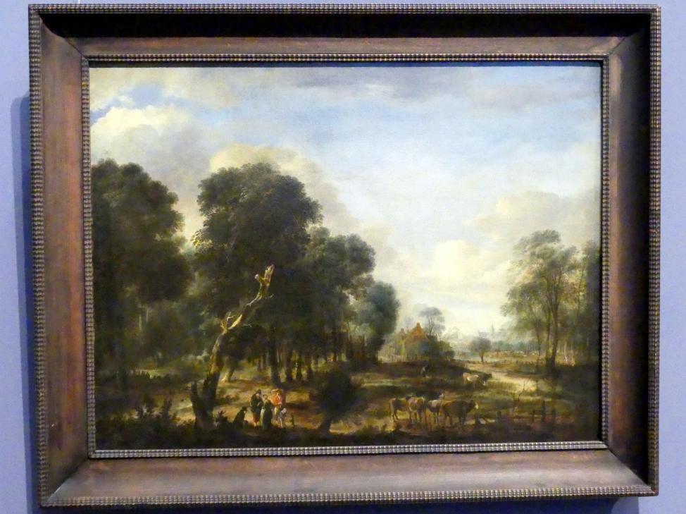 Aert van der Neer: Wasserreiche Waldgegend, um 1645