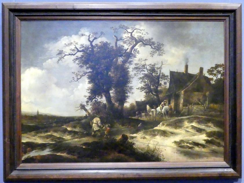 Gerrit van Hees: Vor dem Gasthaus am Dünenrand, Um 1649