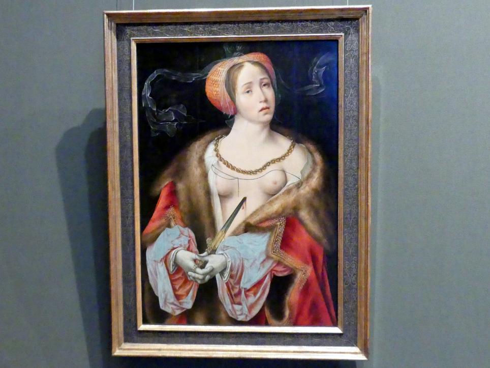Joos van Cleve (Joos van der Beke): Lukrezia, Um 1520 - 1525