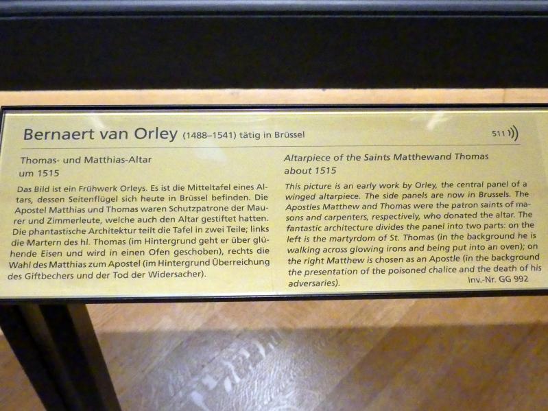 Bernard van Orley: Thomas- und Matthias-Altar, um 1515, Bild 2/2