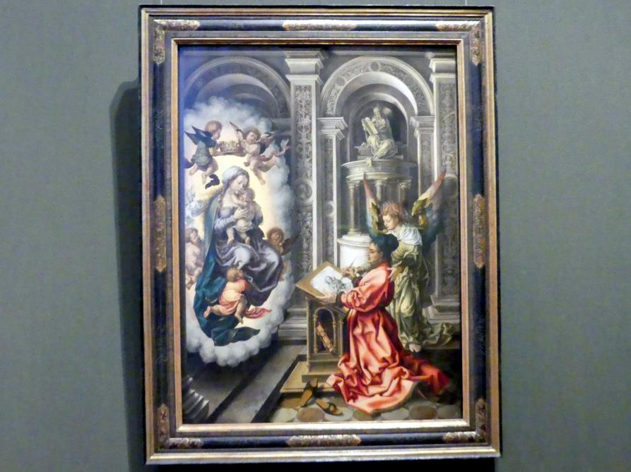 Jan Gossaert, genannt Mabuse: Der hl. Lukas malt die Madonna, Um 1520