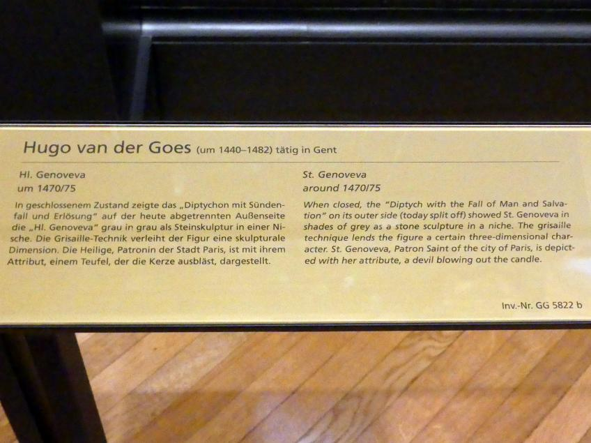 Hugo van der Goes: Hl. Genoveva, um 1470 - 1475, Bild 2/2