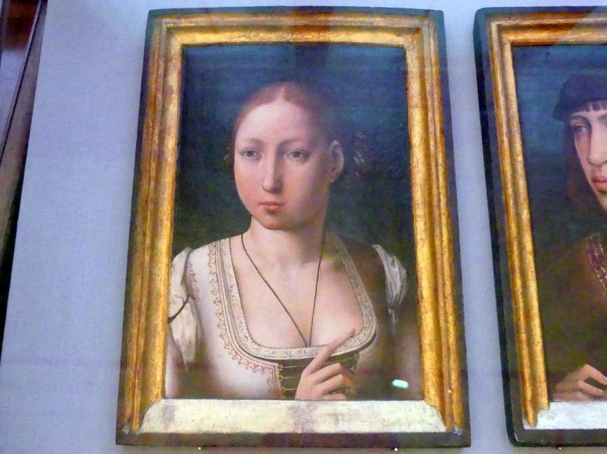 """Juan de Flandes: Johanna von Kastilien, """"die Wahnsinnige"""", um 1500"""