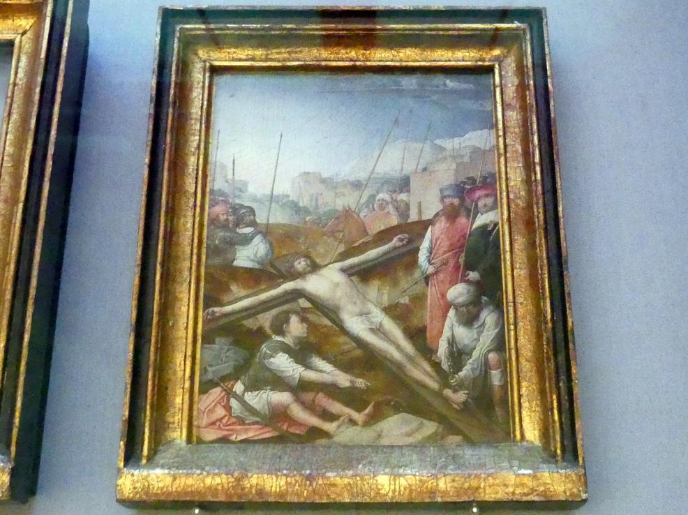 Juan de Flandes: Christus wird an das Kreuz genagelt, um 1496 - 1504