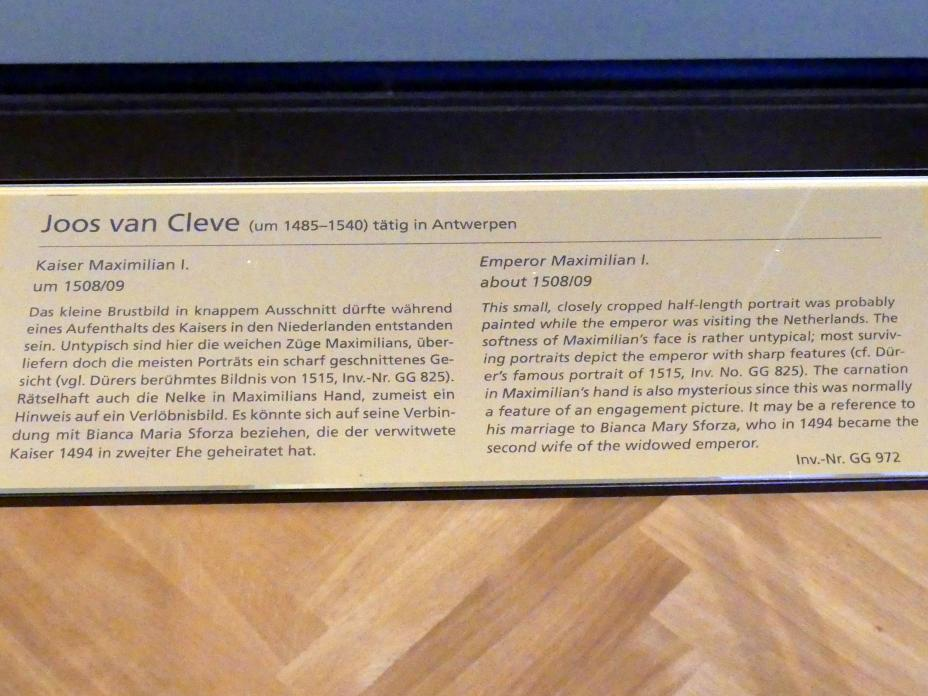 Joos van Cleve (Joos van der Beke): Kaiser Maximilian I., um 1508 - 1509, Bild 2/2