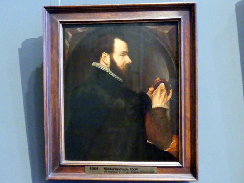 Willem van den Broeck: Selbstbildnis als Wachsbossierer, 1564