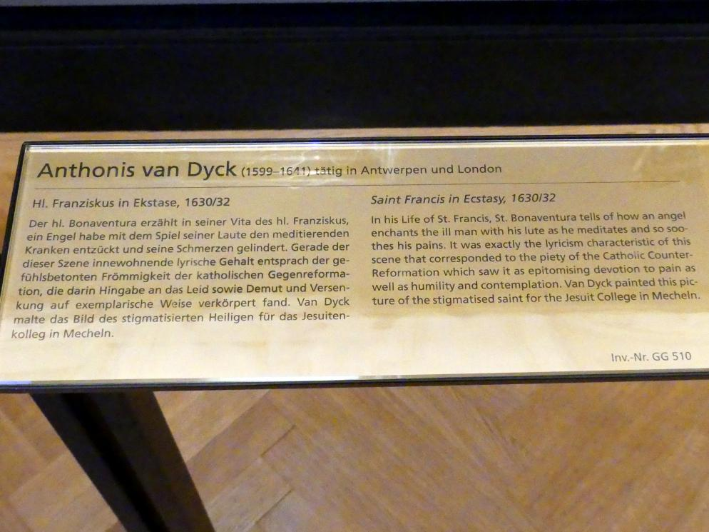 Anthonis (Anton) van Dyck: Hl. Franziskus in Ekstase, 1630 - 1632, Bild 2/2