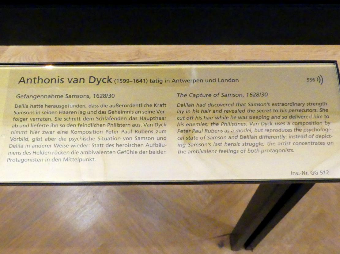 Anthonis (Anton) van Dyck: Gefangennahme Samsons, 1628 - 1630