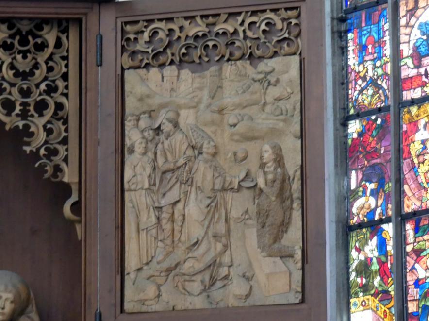 Tilman Riemenschneider: Letzte Kommunion der Maria Magdalena durch den Bischof Maxim, 1490 - 1492