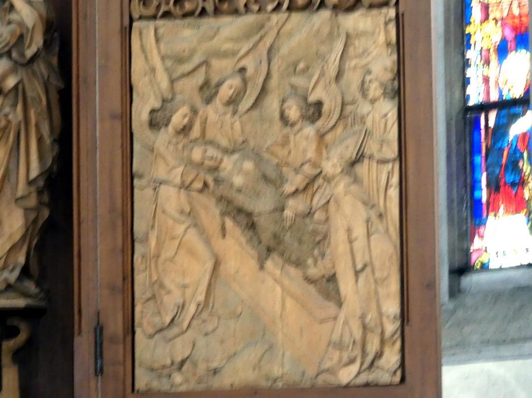 Tilman Riemenschneider: Grablegung der Maria Magdalena durch Engel und den Bischof Maxim, 1490 - 1492
