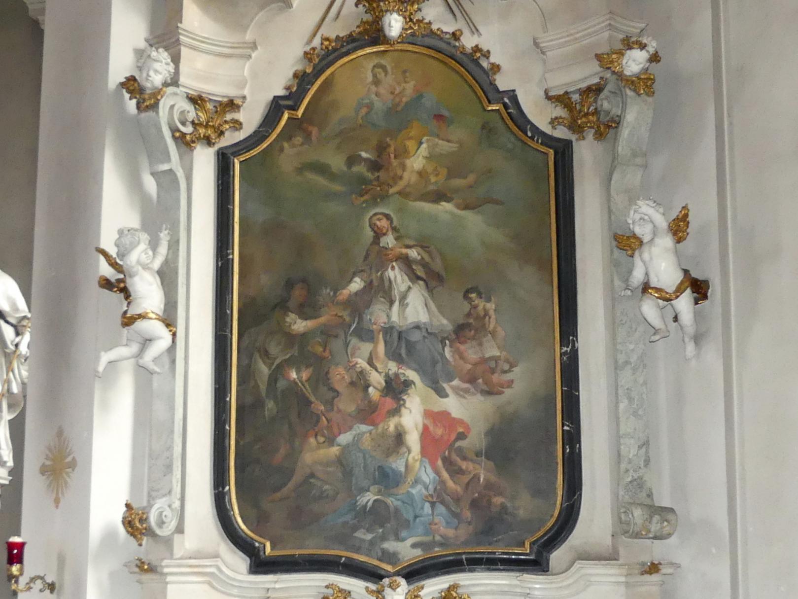 Gottfried Bernhard Göz: Aufnahme des Hl. Johannes Nepomuk in den Himmel, Undatiert