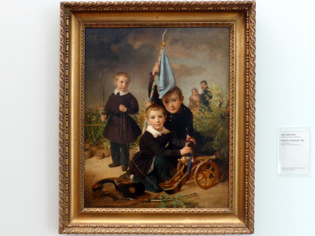 Johann Baptist Reiter: Kinder beim Soldatenspiel, 1848
