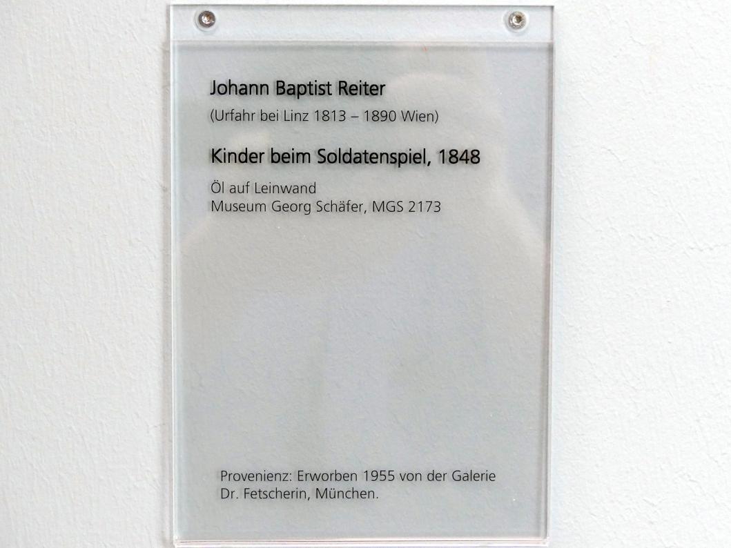 Johann Baptist Reiter: Kinder beim Soldatenspiel, 1848, Bild 2/2