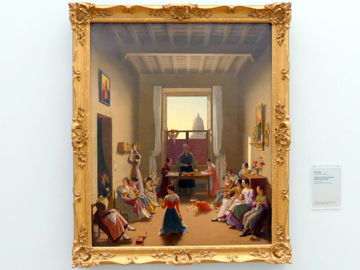 Peter Rittig: Klassenzimmer einer römischen Mädchenschule, 1839