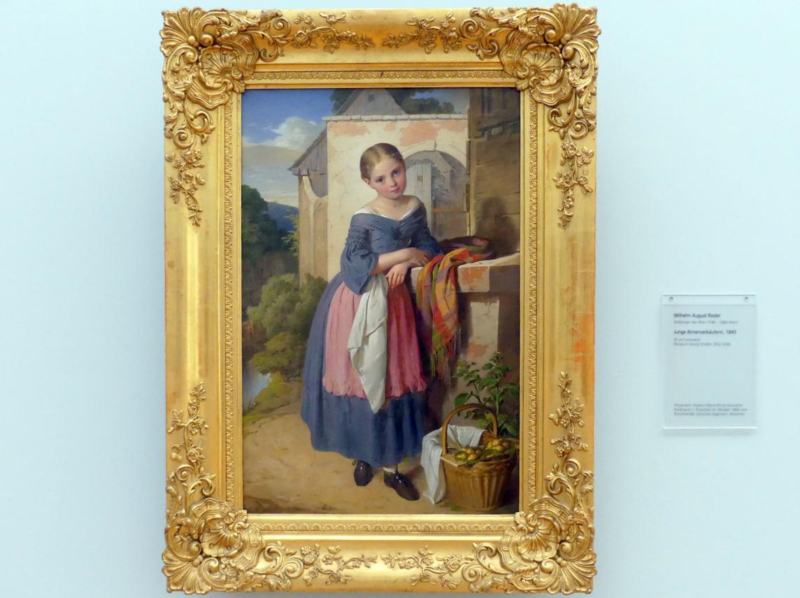 Wilhelm August Rieder: Junge Birnenverkäuferin, 1845