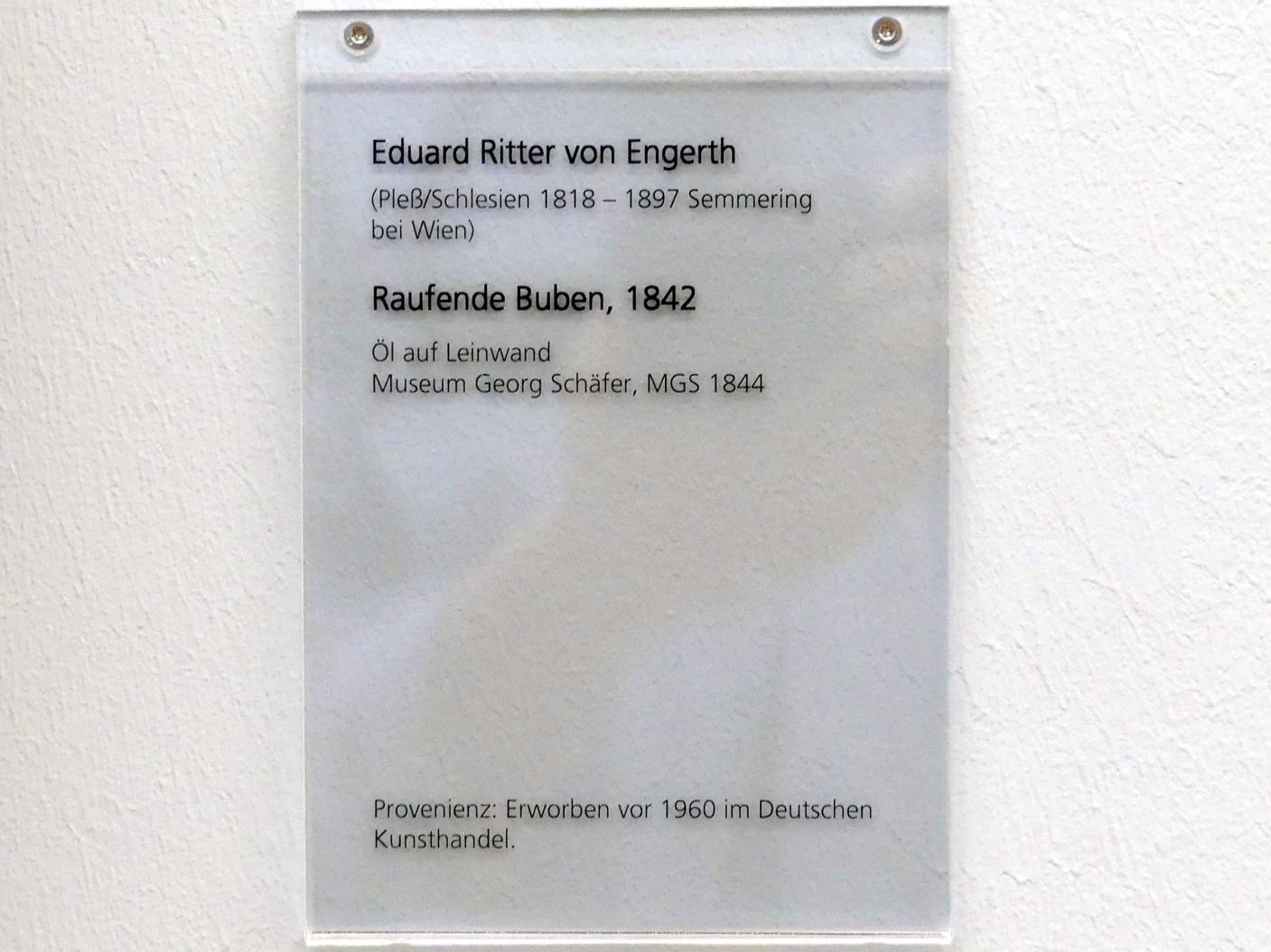 Eduard Ritter von Engerth: Raufende Buben, 1842, Bild 2/2