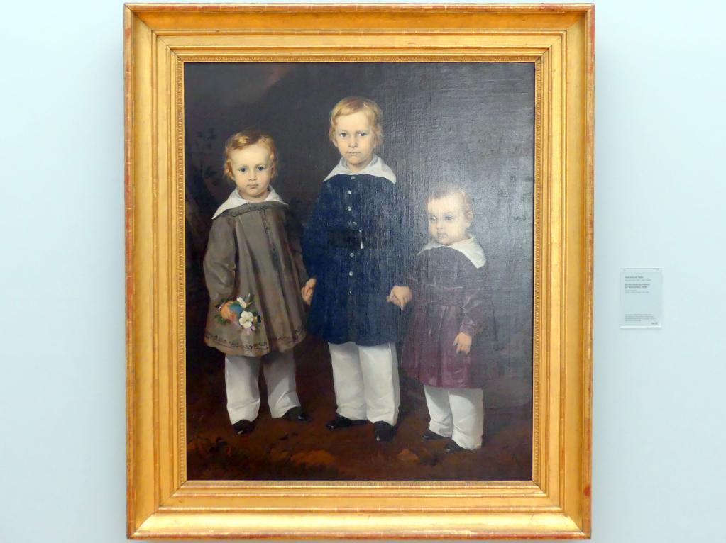 Ferdinand von Rayski: Die drei Söhne des Freiherrn von Bechtolsheim, 1838