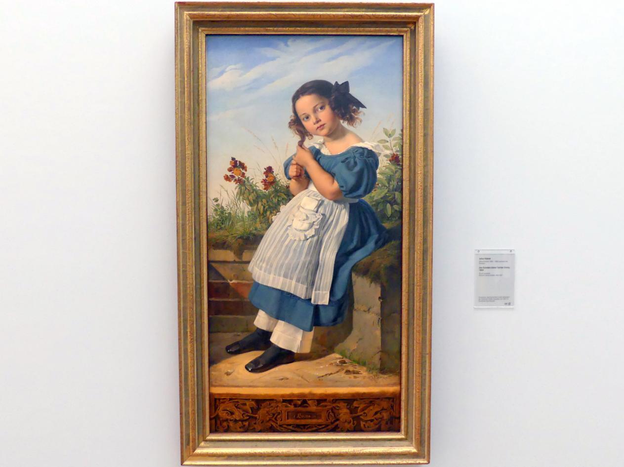 Julius Hübner: Des Künstlers kleine Tochter Emma, 1834