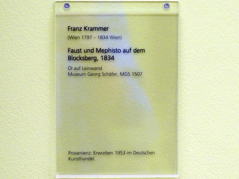 Franz Krammer: Faust und Mephisto auf dem Blocksberg, 1834, Bild 2/2