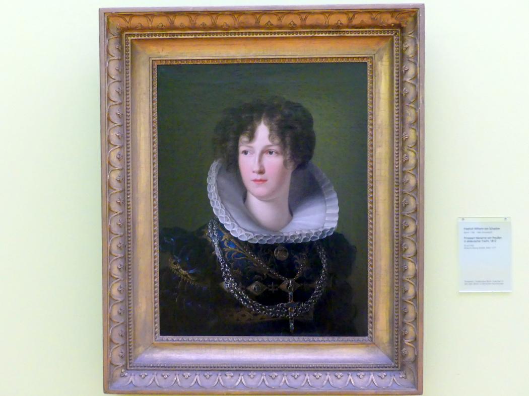 Friedrich Wilhelm von Schadow: Prinzessin Marianne von Preußen in altdeutscher Tracht, 1812