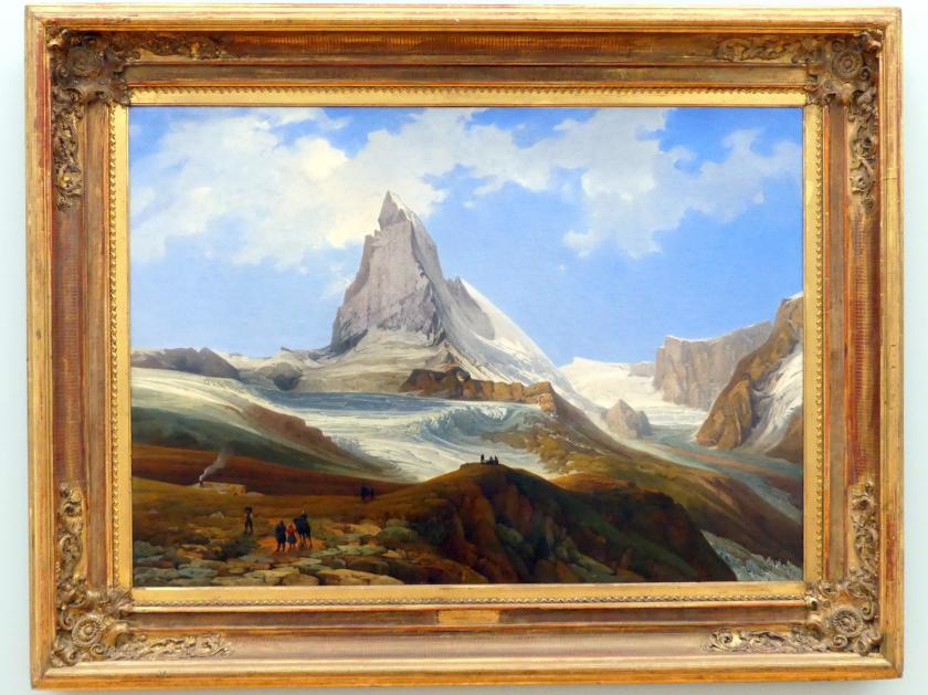 Thomas Ender: Matterhorn vom Gornergrat, um 1854