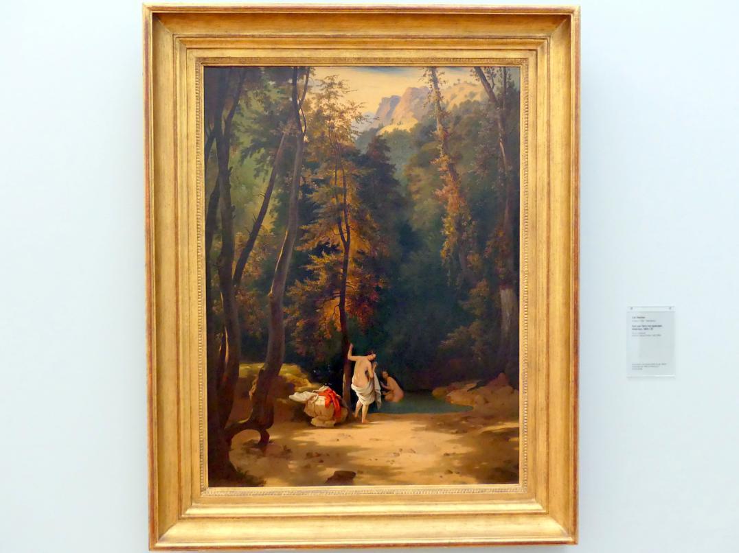 Carl Blechen: Park von Terni mit badenden Mädchen, um 1835 - 1837