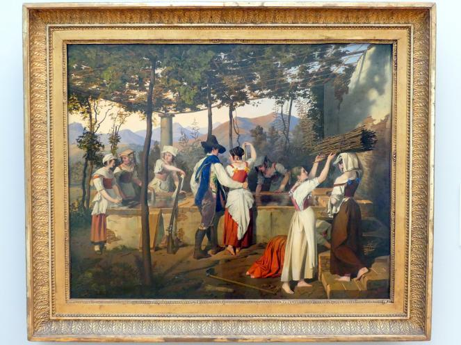 Michael Neher: Die Frauen am Brunnen von Olevano, 1826
