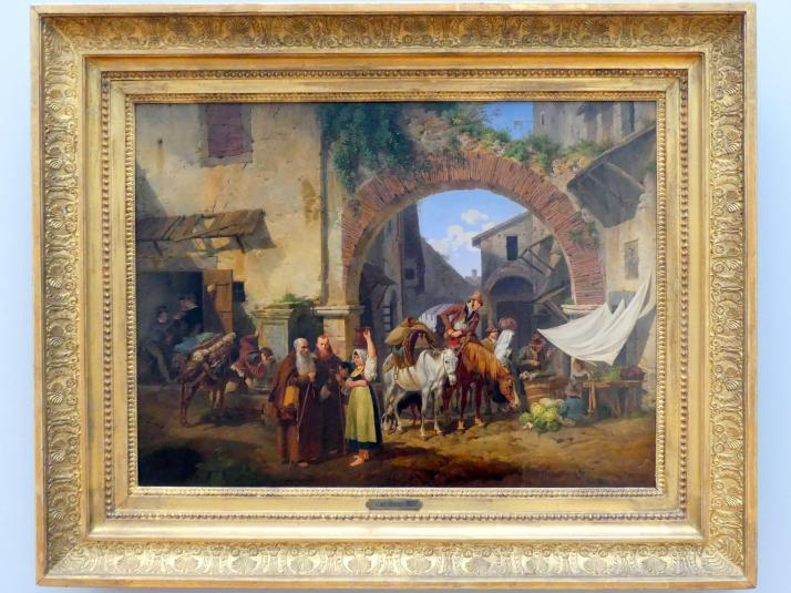 Peter von Hess: Straßenszene in Tivoli, 1822