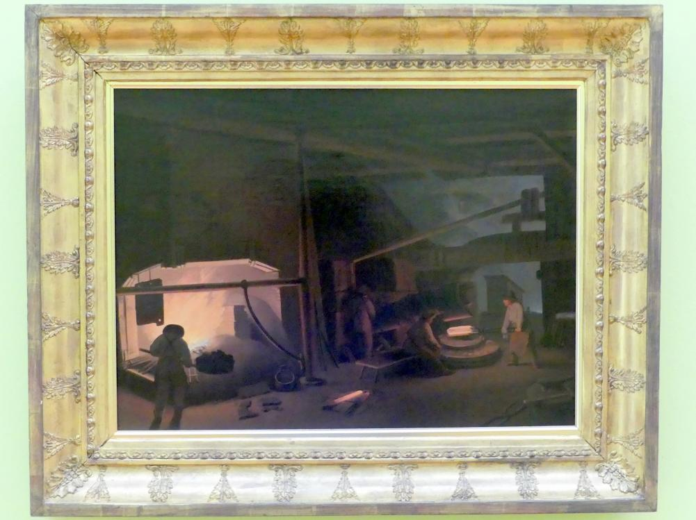 Ignaz Raffalt: In der Schmiede I., 1837