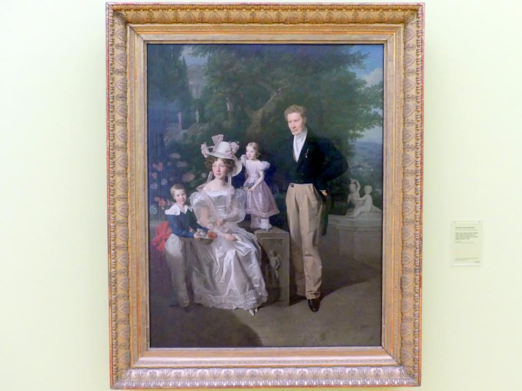 Ferdinand Georg Waldmüller: Bildnis des Legationsrates Theodor Joseph Ritter von Neuhaus mit seiner Gattin Albertine und seinen beiden Kindern, 1827